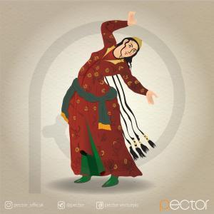 وکتور زن ایرانی