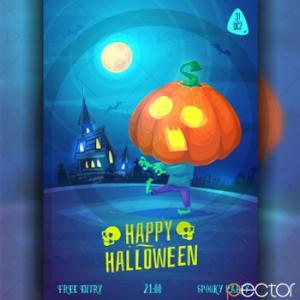 پوستر وکتور هالووین